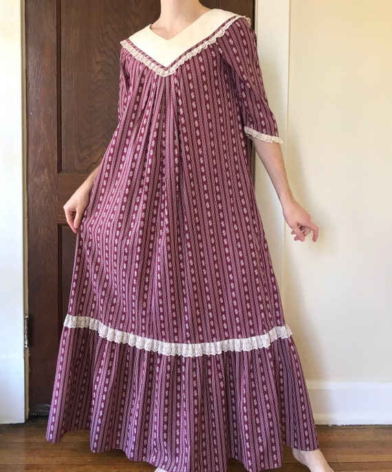70s Liberty House prairie style maxi dress