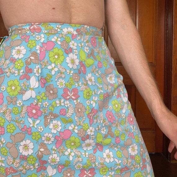 70s Novelty print maxi skirt - image 3