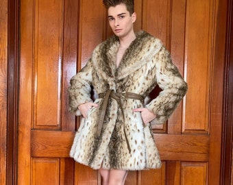 70s Country Pacer faux fur coat