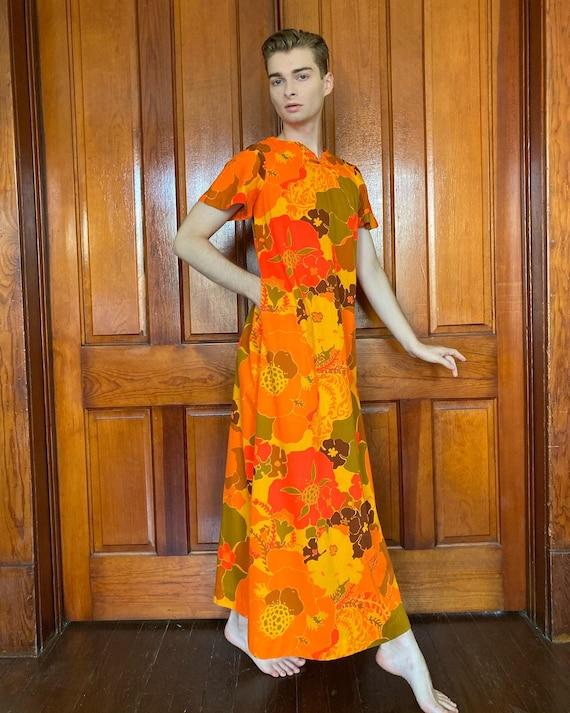 70s Liberty House floral Hawaiian dress