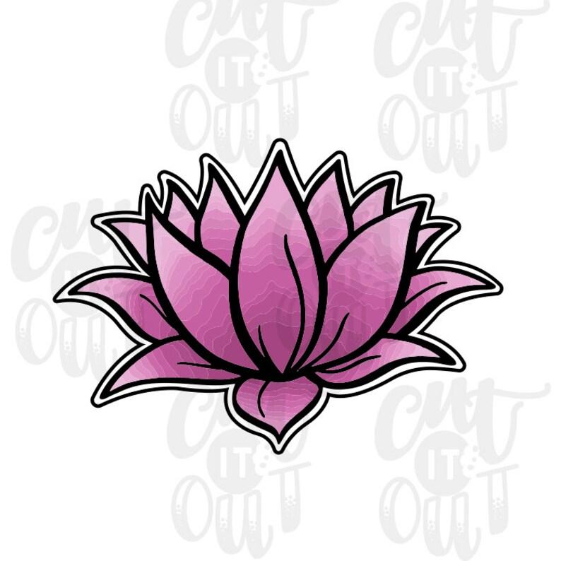 Lotus Flower Cookie Cutter Etsy