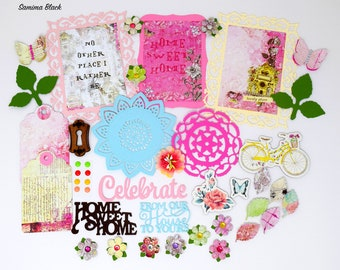 Daisy D/'sPink Floral Vintage Scrapbook Craft Grecian Garden paper