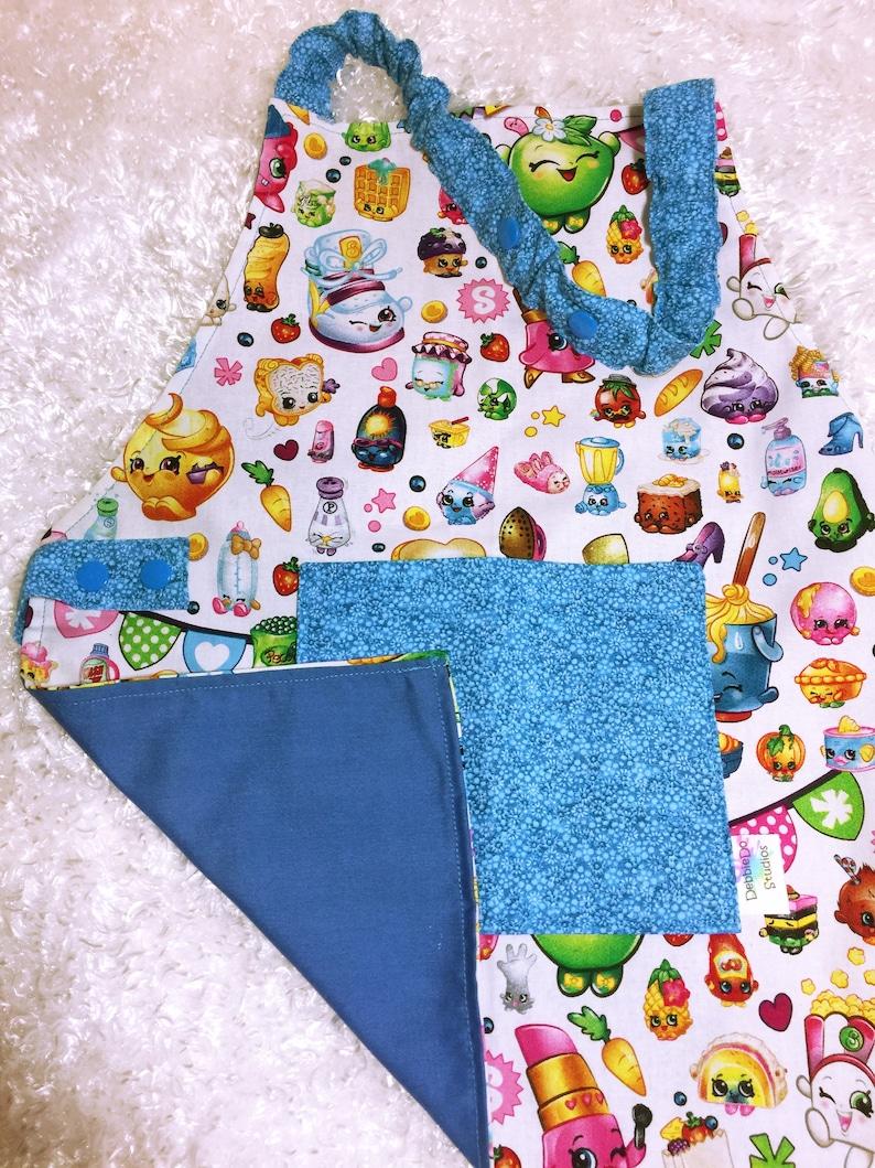 Shopkins Grow With Me I Can Do It Myself Child\u2019s Apron size 5-7