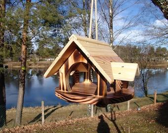mangeoire oiseaux en bois etsy. Black Bedroom Furniture Sets. Home Design Ideas