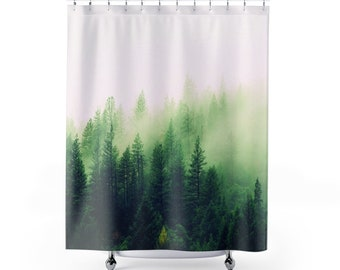 3d Dark Green Tree 8 Shower Curtain Waterproof Fiber Bathroom Windows Toilet Home & Garden Shower Curtains