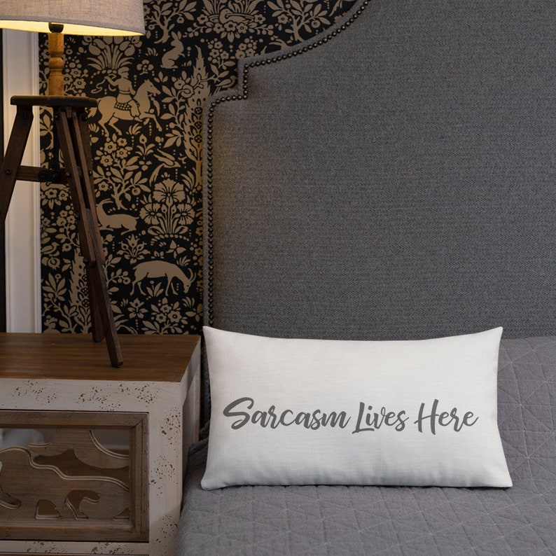 77f2804e75619 Sarcasm Lives Here, Funny pillow, Handmade in USA, Shop Small - Shop  Personal