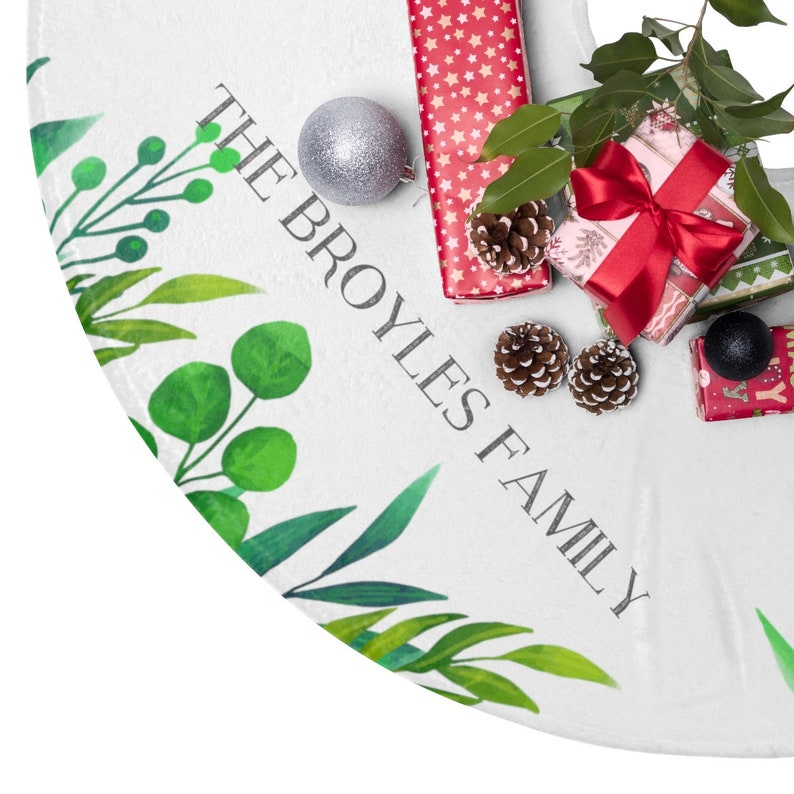 Custom Name Christmas Decor Personalized Christmas Tree Skirt First Christmas Gift