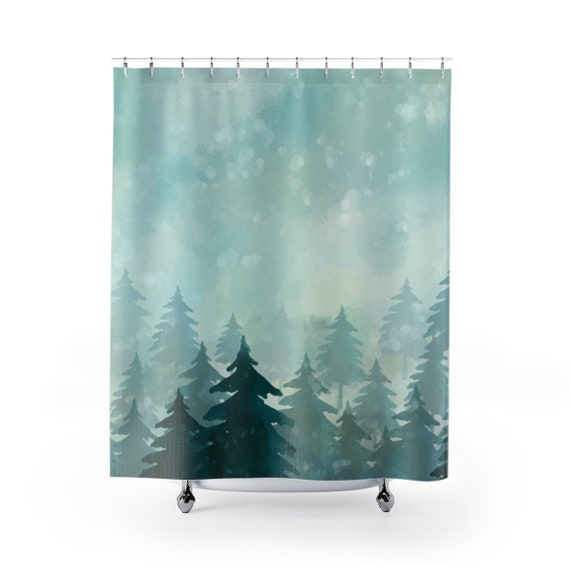 Nature Themed Shower Curtain Forest Bathroom Decor Bath