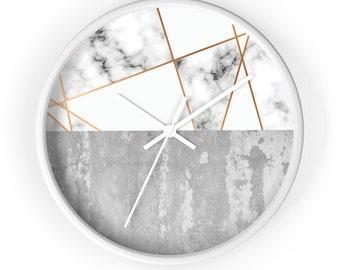 Modern Wall Clock, classic wall clock,  Minimalist Wall Clock, geometric design,abstract design Wall Clock, cement background