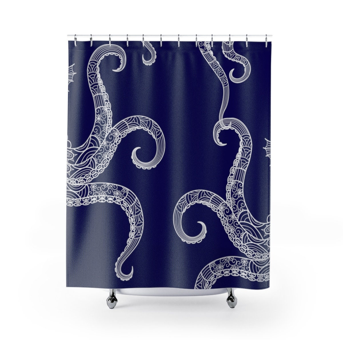 Octopus Shower Curtain Unique Bath Curtain Bathroom Decor