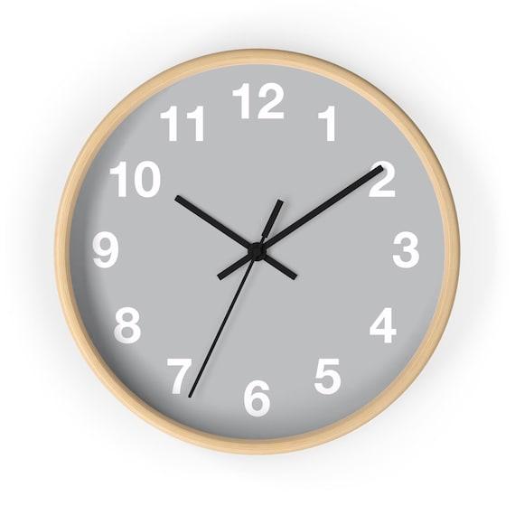 Minimalist Wall Clock, geometric design, classic wall clock, office wall  clock, kitchen wall clock, wooden wall clock, round wall clock