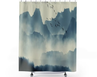 Nature themed Shower Curtain, bath decor, bathroom decor