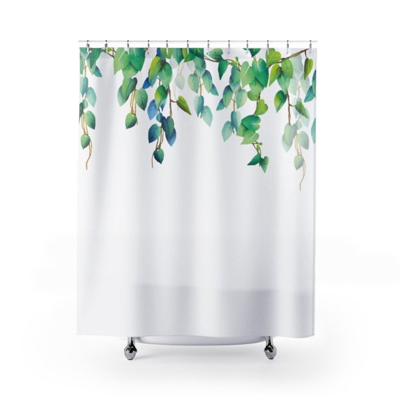 Shower Curtain Vines Falling Leaves Plants Nature