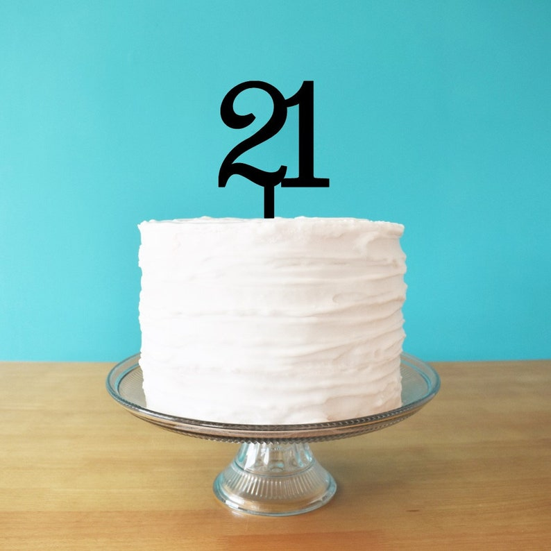 Admirable 21 Cake Topper For 21St Birthday Cake Age Cake Topper 21St Etsy Funny Birthday Cards Online Aeocydamsfinfo