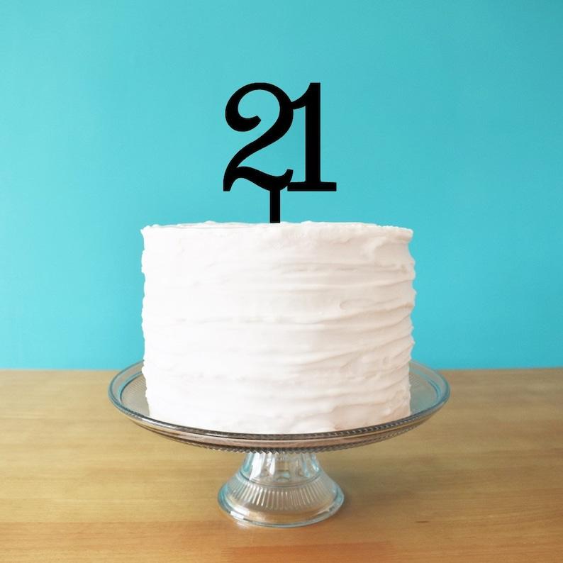 Awe Inspiring 21 Cake Topper For 21St Birthday Cake Age Cake Topper 21St Etsy Funny Birthday Cards Online Elaedamsfinfo