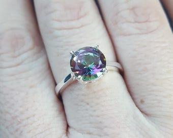 Mystic Topaz Silver Ring