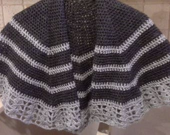 Cape, crochet Cape, grandmother's cloak, wool cloak