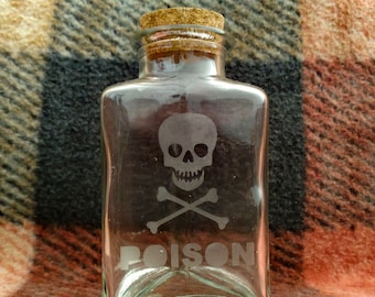 Small Etched Triangle Bottle - Poison Label