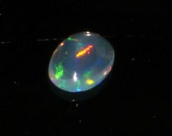0.35 CTS Natural Ethiopian Opal Canochon Welo Fire Opal loose Gemstone Multi Fire Opal Amazing Quality Opal ##159