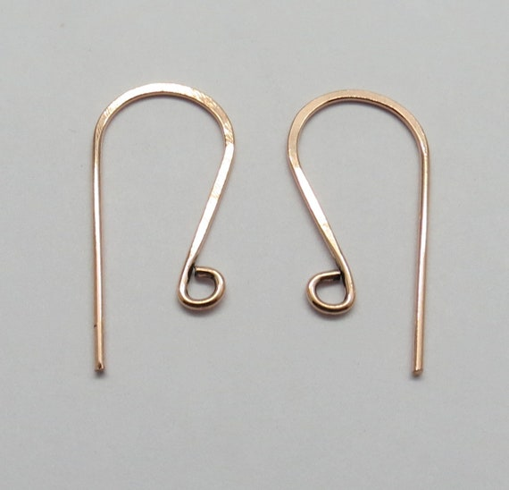 """2/""""  KIDNEY EAR WIRE   MADE IN USA ANTIQUE  SOLID COPPER 36 PCS"""