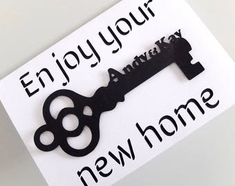 New Home Card, Personalised Card for Moving Home, Personalised New Apartment Card,Personalised Enjoy Your New Home, New Flat Card, New House