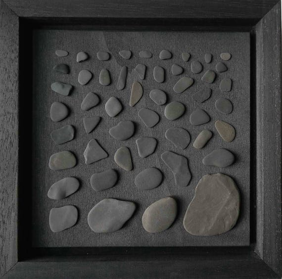 Flotsam Collage Stone Black