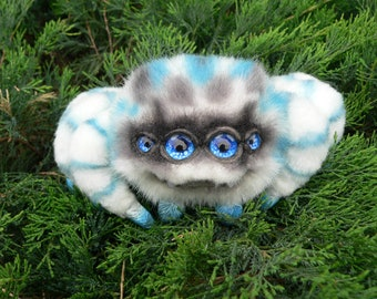 Spider collar Marshmallow . Spider. FOR ORDER.Realistic soft toys. Soft sculpture. OOAK