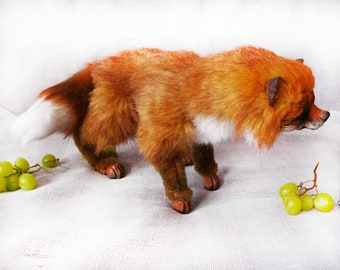 Fox FOR ORDER. Fox.Realistic soft toys. Soft sculpture. OOAK. Stuffed animals.