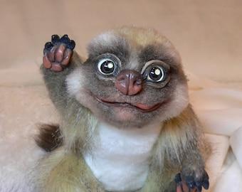 Meerkat(Suricata suricatta).IN STOCK.Realistic soft toys. Soft sculpture. OOAK. Stuffed animals. Art doll.