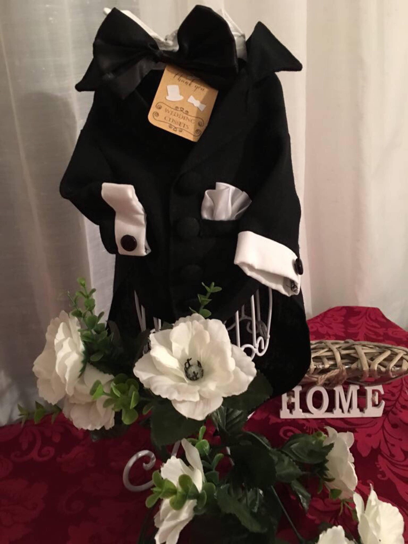 CLASSIC BLACK Dog Tuxedo, Black Smoking, Dog Suit, Wedding Dog