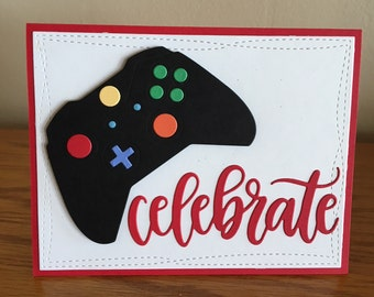 Gaming Controller Birthday Card Gamer For Preteen To Adults Celebrate Game