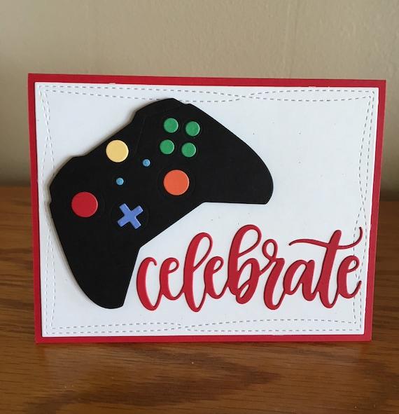 Gaming Controller Birthday Card Gamer Birthday Card Gamer Etsy