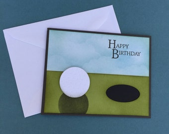 Golf Birthday card, Birthday card, guy card, golfing card, sports birthday card, 3D, pun verse inside