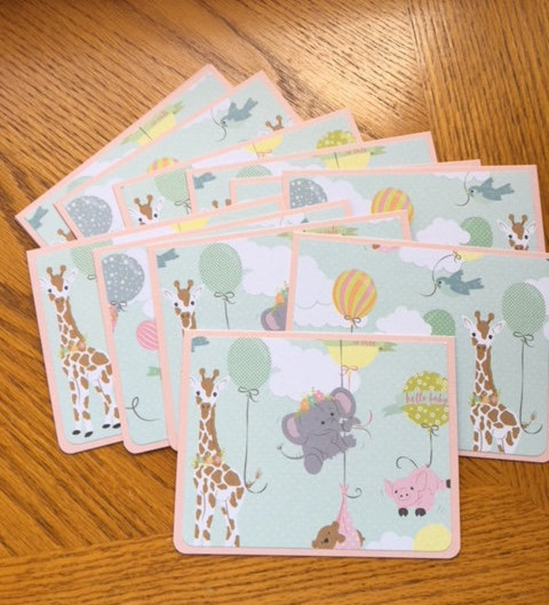 baby announcement notecards baby girl shower invites 12 adorable baby girl cards blank thank you cards baby girl shower thank you notes