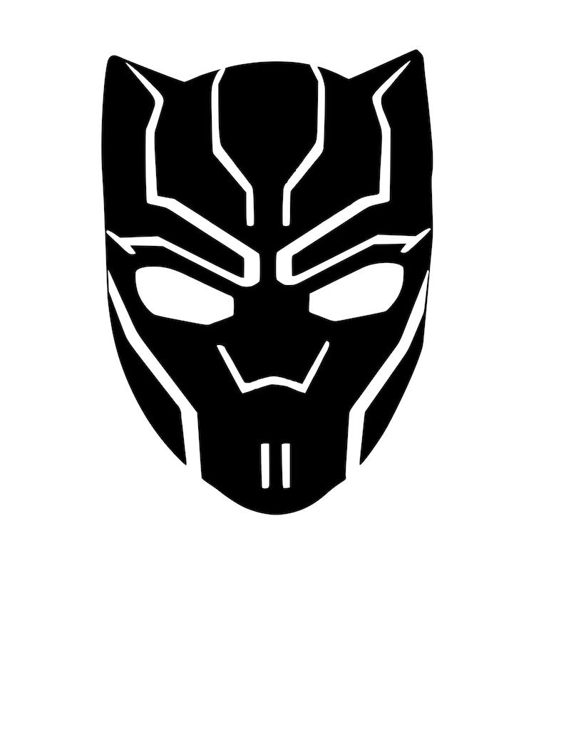Black Panther logo iron on heat transfer vinyl   Etsy
