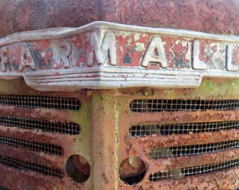 Farmall Tractor Grill Color Photograph 25% off with coupon code SPRINGSALE