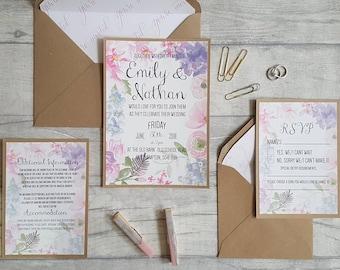 Vintage wedding invitations, Barn wedding invitation, Shabby chic wedding invites, Wedding invites, Floral invitations, Wedding stationery