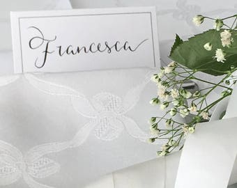 Wedding Name cards, Black and white, Place cards, Wedding Decoration, Table Decoration, Seating Plan