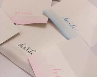 Watercolour, water colour, placecards, name cards, escort cards, wedding place cards, wedding name cards, wedding place setting, boho