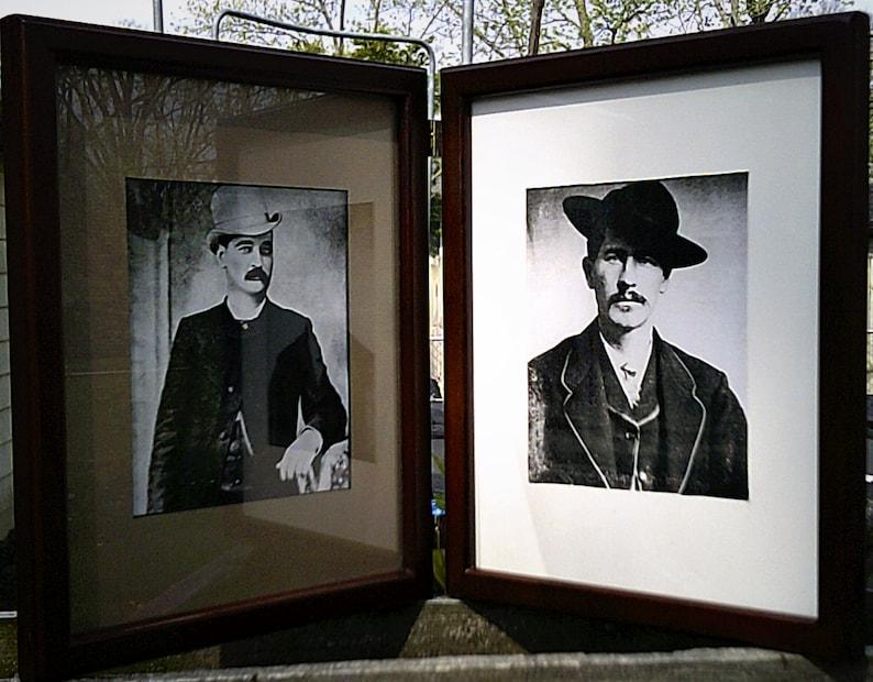 087185b0fe Wyatt Earp and Bat Masterson B W Photos in Wood-Hinged Frames