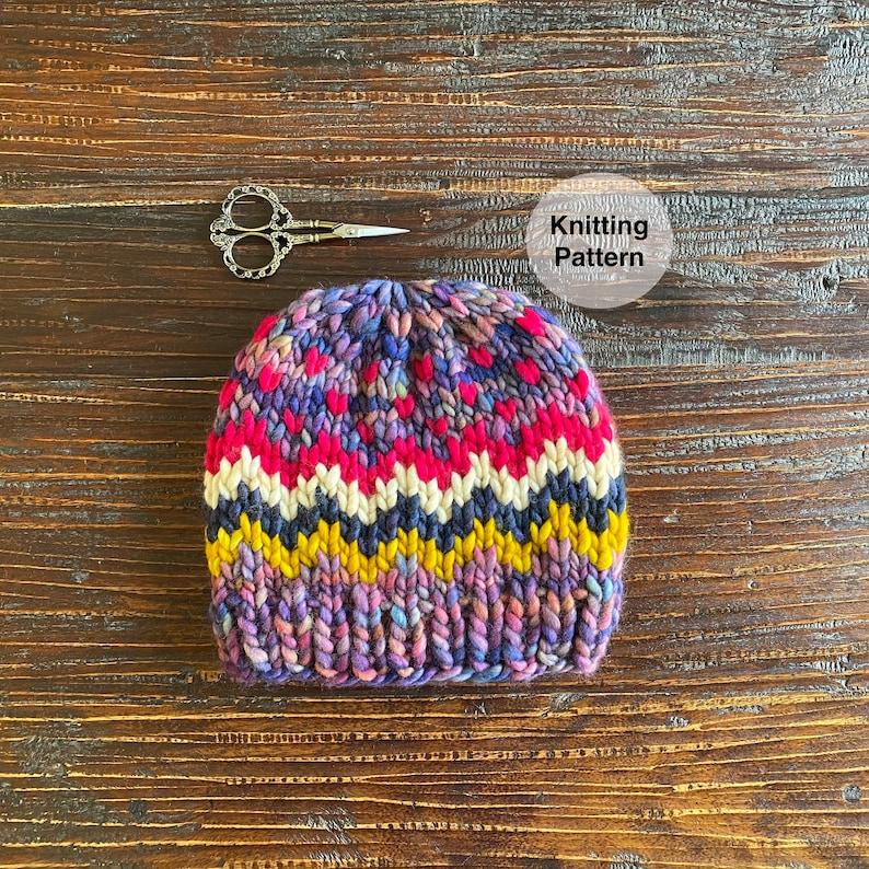 Scraptacular Beanie Knitting Pattern image 0