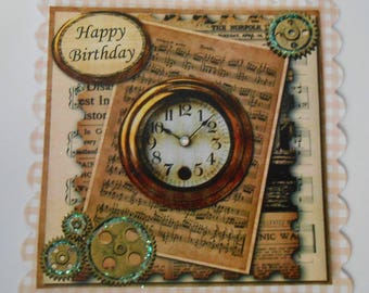 PK 2 HAPPY BIRTHDAY AFTERNOON NAP EMBELLISHMENT TOPPERS FOR CARDS