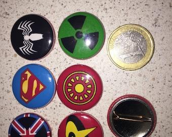 6 badges super hero badges (serie6)