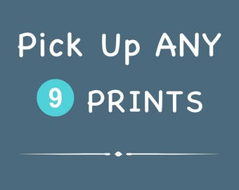 Discounted Set - Customize Any Set of 9 photography paper prints - SAVE 40%