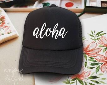 Aloha camionero sombrero moda tapa sombrero Monster gorra rebaño Flex  sombrero a9d8b0dcf20