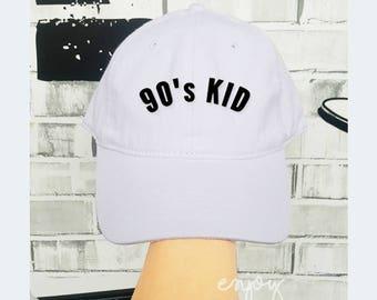 d9befa77815 90 s KID Baseball Cotton Hat Unisex Cap Fashion Cap Hat Monster Cap Screen  printing Cap