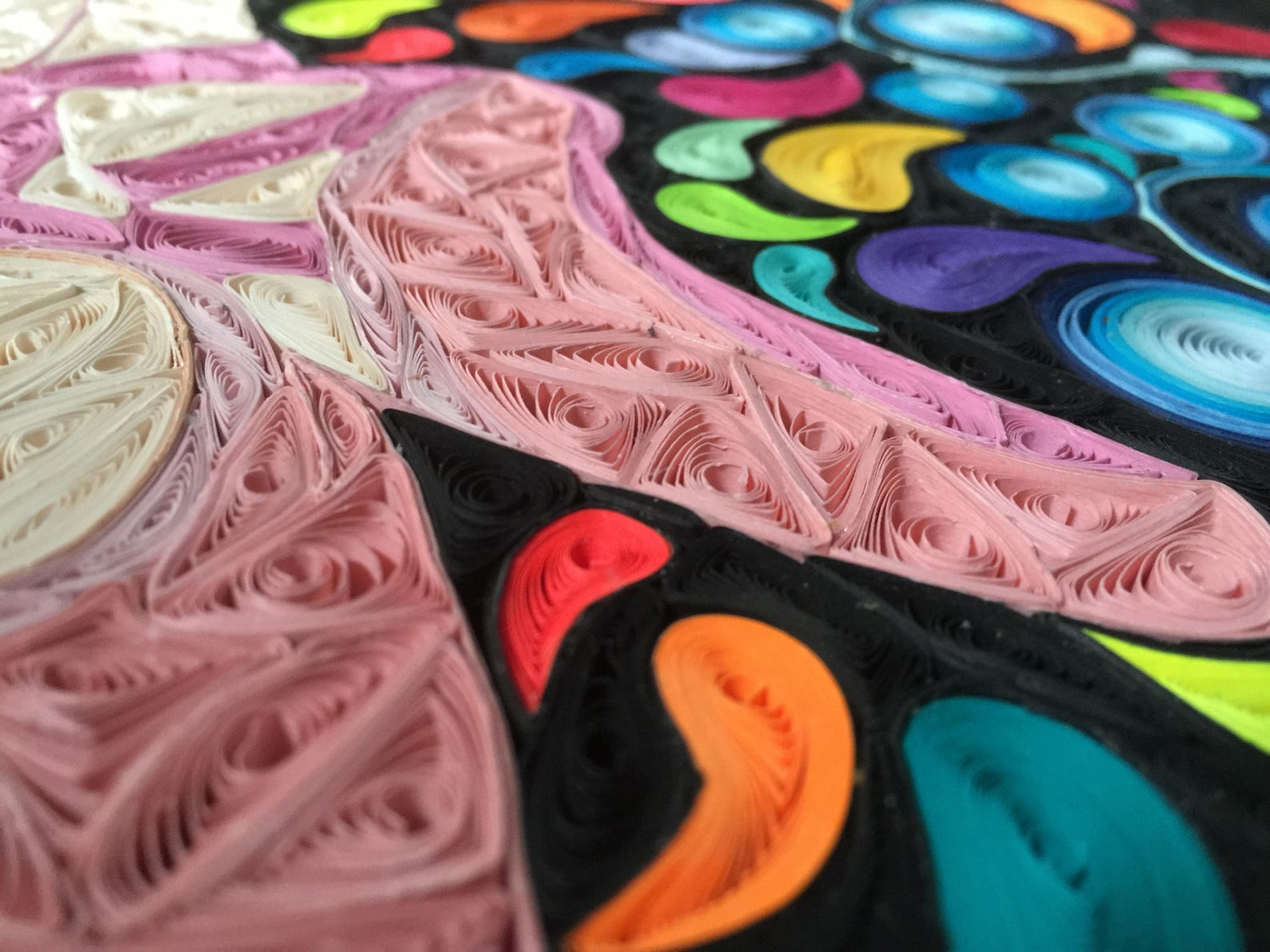 quilling, paper art, on pointe, ballet shoes, dancing feet, slipper, mosaic, digital download, ready to print, 1st anniversary,