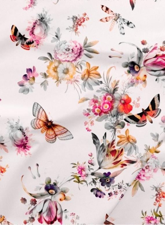 Butterfly /& Flowers Design Pink Newborn Gift Girl Personalised Baby Blanket