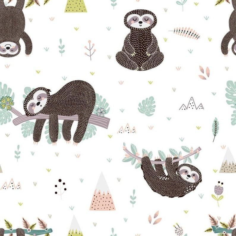 Sloth Crib Sheet Gender Neutral Crib Bedding Black and White Fitted Crib Sheet Sloth Animal Crib Sheet Sloth Baby Shower Gift Unisex