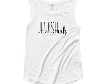Jewish...ish // Women's White Tank Top